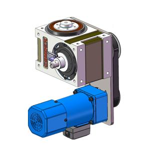 凸缘型分割器电机垂直同步轮连接,分割器电机驱动