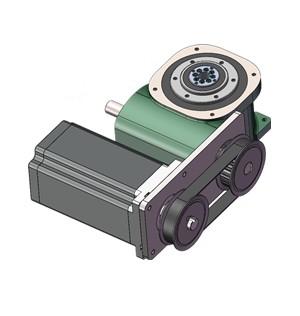 中空法兰型分割器电机水平同步轮传动,分割器用什么电机驱动